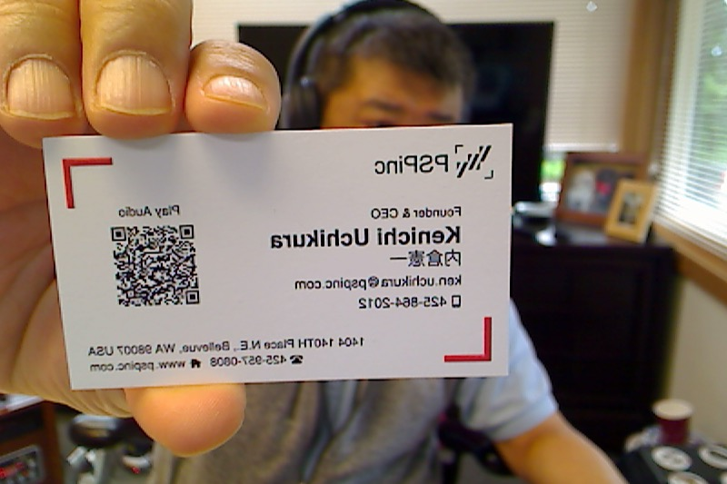 Scan my card ... you will hea...