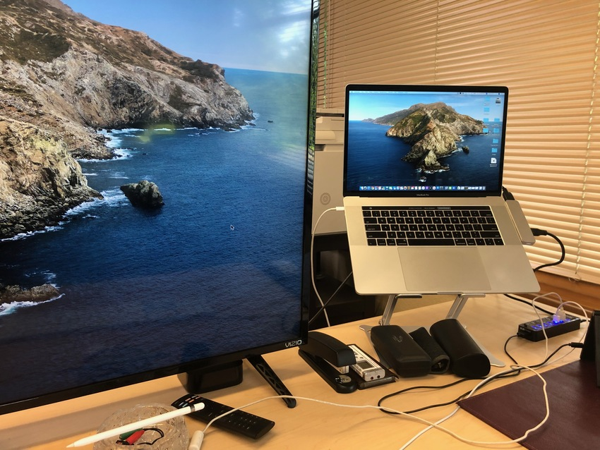 This is what my desk set up.