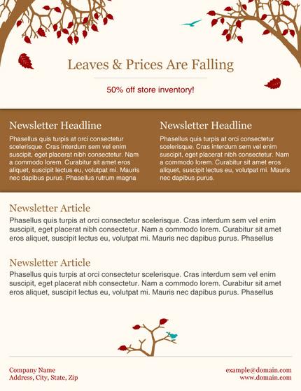 seattle web hosting custom web design fall newsmail newsletter