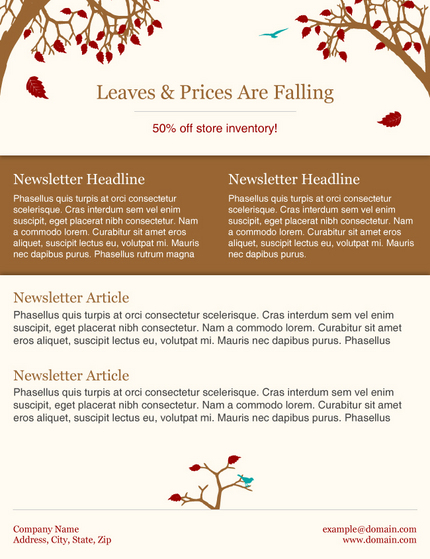 Newsmail news newsmail email marketing service updates fall newsmail newsletter tem maxwellsz