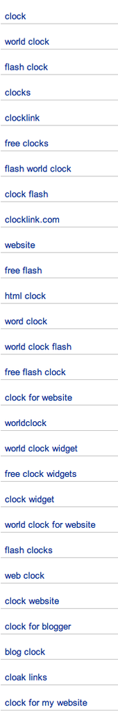 Top Keywords to get to ClockL...