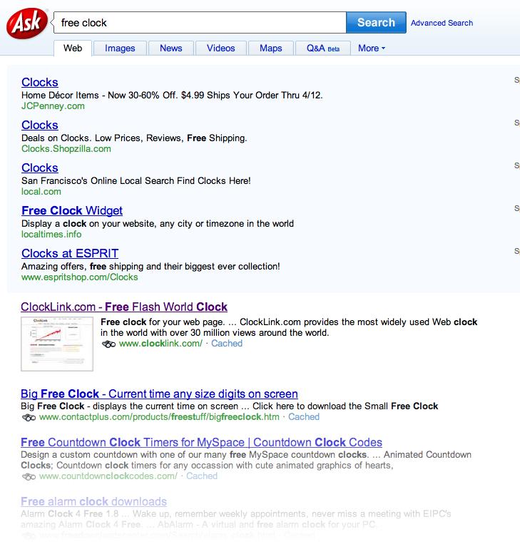 ClockLink is ranked No 1 at ASK COM - No 1 Free Blog Clock - Bloguru