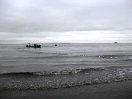 Set net off the beach