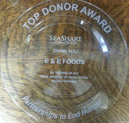 Top Donor Award plate