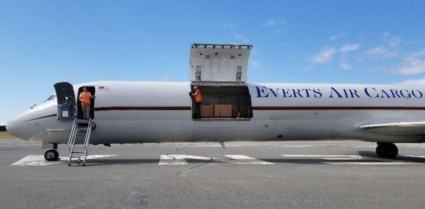 ...ready for unloading in Kenai...