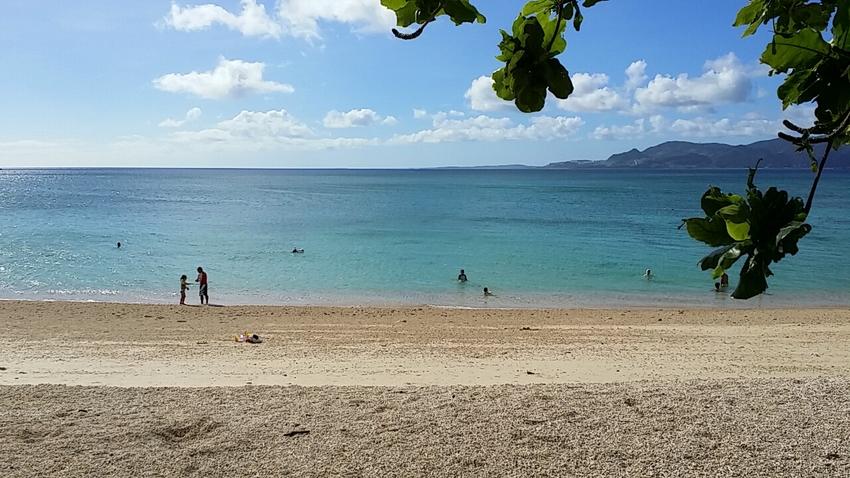 海がとってもきれい。 この日は...