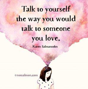 自分に語る時、自分の愛している...