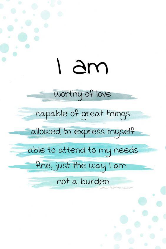 私は…    愛される値がある...