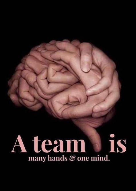 チームとは、たくさんの手と一つ...
