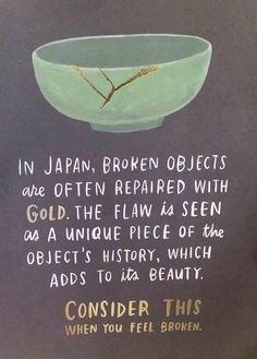 日本では、壊れた器を金を使って...