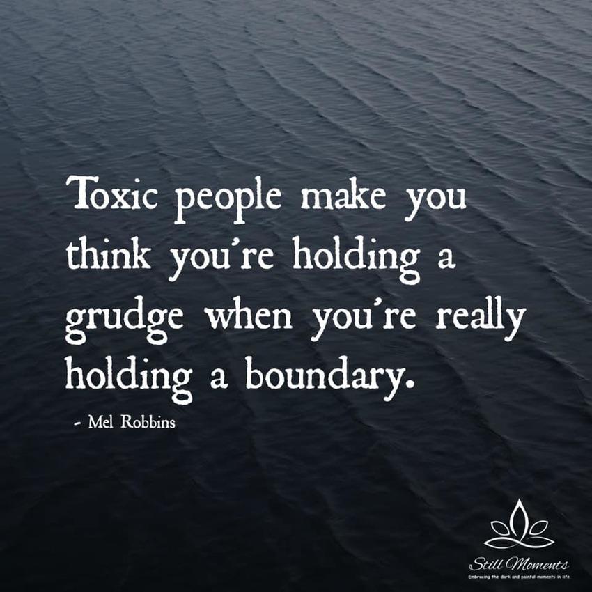 有毒な人は、あなたが境界線をし...