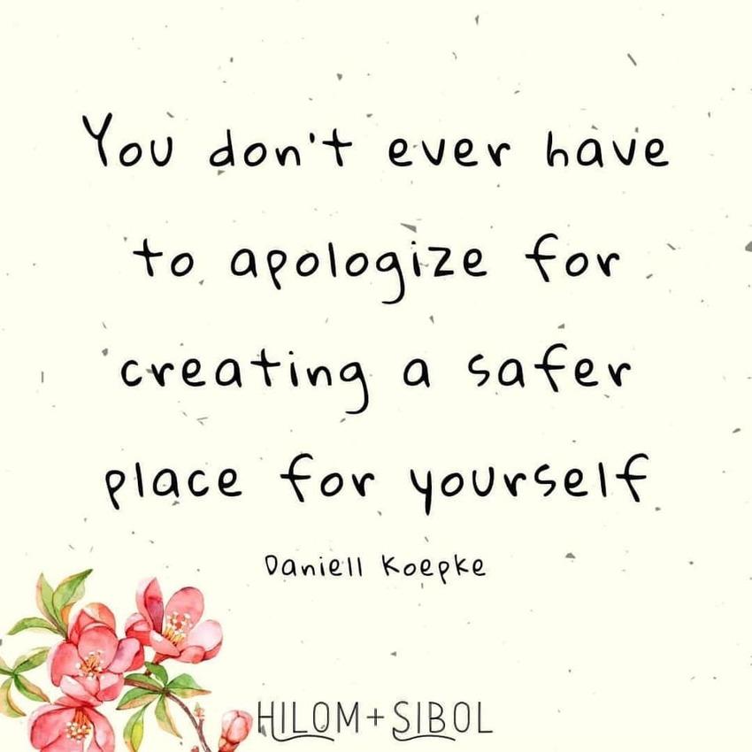 自分のために安全な場所を作るこ...
