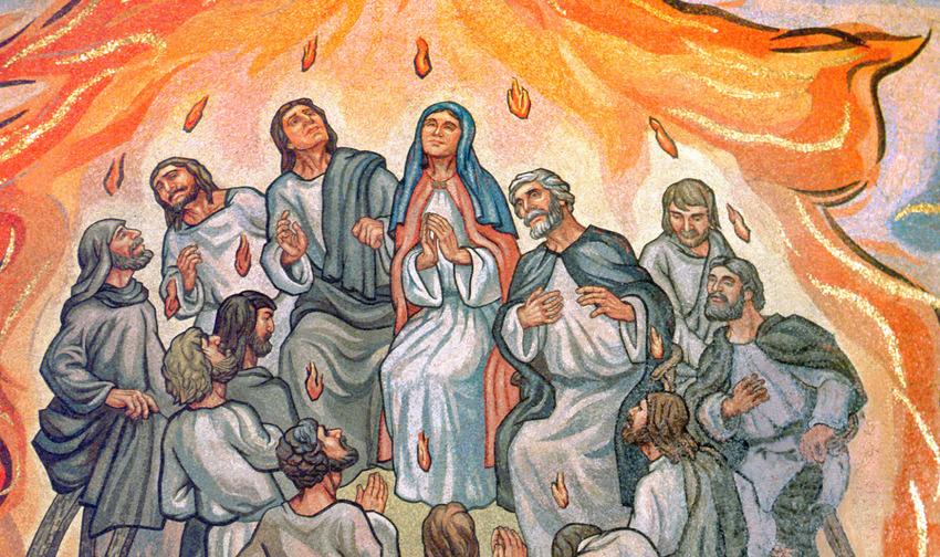 日曜日は、ペンテコステ礼拝でし...