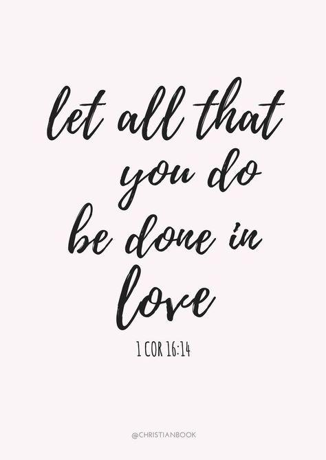 全てのことを愛によってなしなさ...
